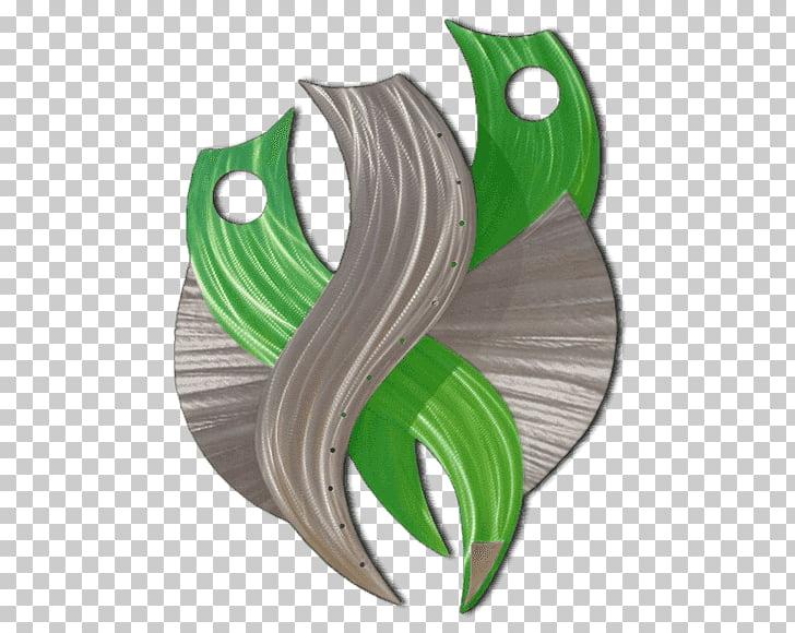 Obra de arte metal escultura, verde abstracto. PNG Clipart.