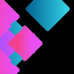 Fondo abstracto rombo azul.