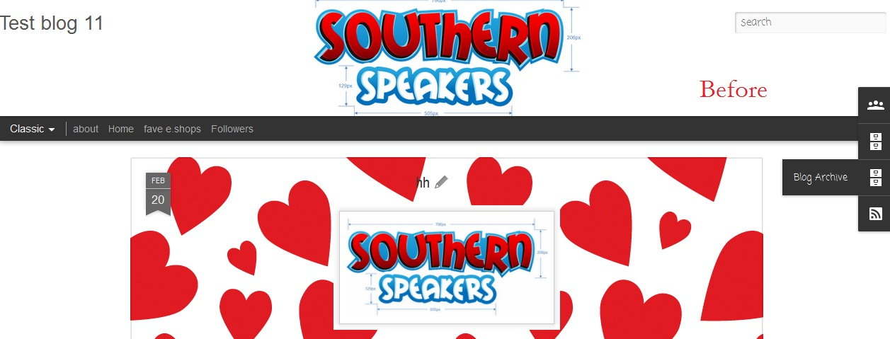 Southern Speakers v3.0: Adjust Gadget\'s Vertical Position in.