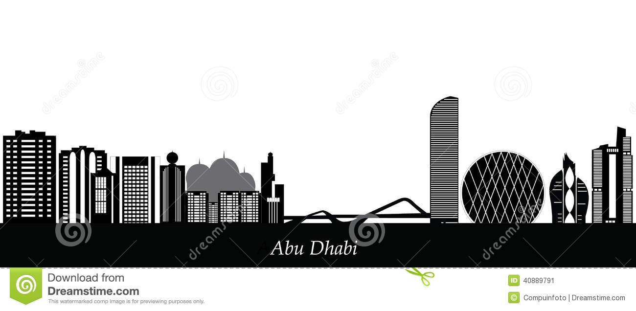 Abu Dhabi Skyline Stock Vector.