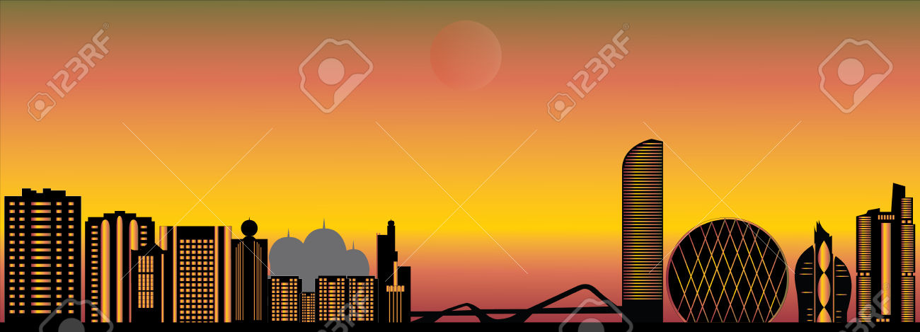 Abu Dhabi Skyline Royalty Free Cliparts, Vectors, And Stock.