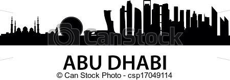 Vector Clip Art of Skyline AbuDhabi.