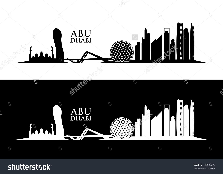 Abu Dhabi Skyline Vector Illustration Stock Vector 148520273.