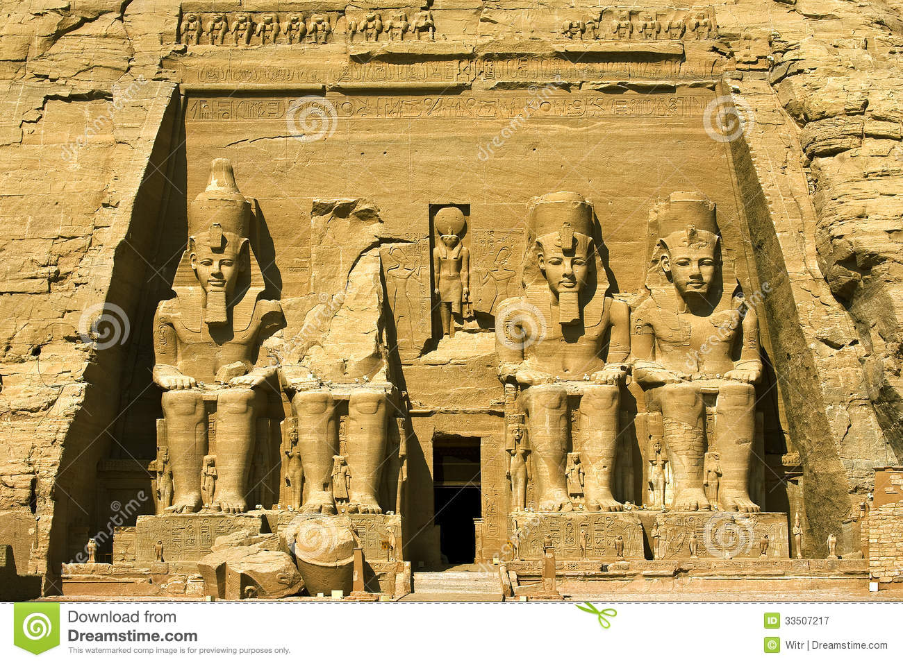 Abu Simbel Temple Of Hathor (Nefertari), Egypt. Stock Image.