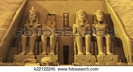Stock Illustration of Temple of Abu Simbel k22122245.
