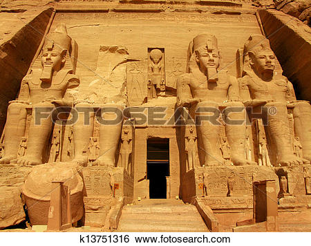 Stock Images of Abu Simbel Temple of King Ramses II, a masterpiece.