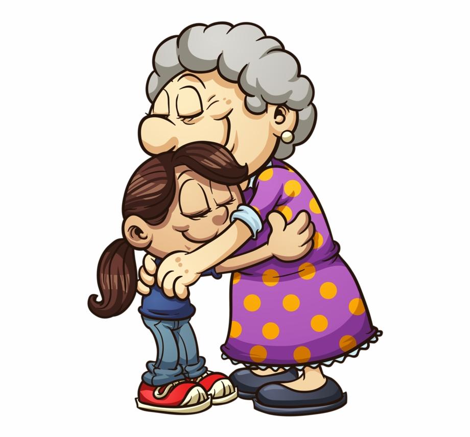 My 4 Granddaughters Hug Illustration, Image Digital,.
