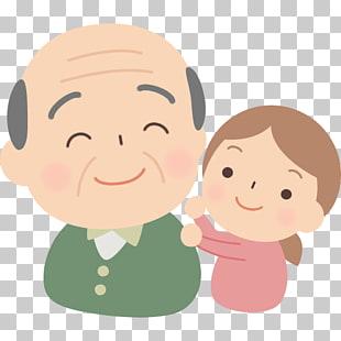 Abuela y nieto PNG cliparts descarga gratuita.