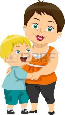 abuela: Ilustración que ofrece una abuela y su nieto.