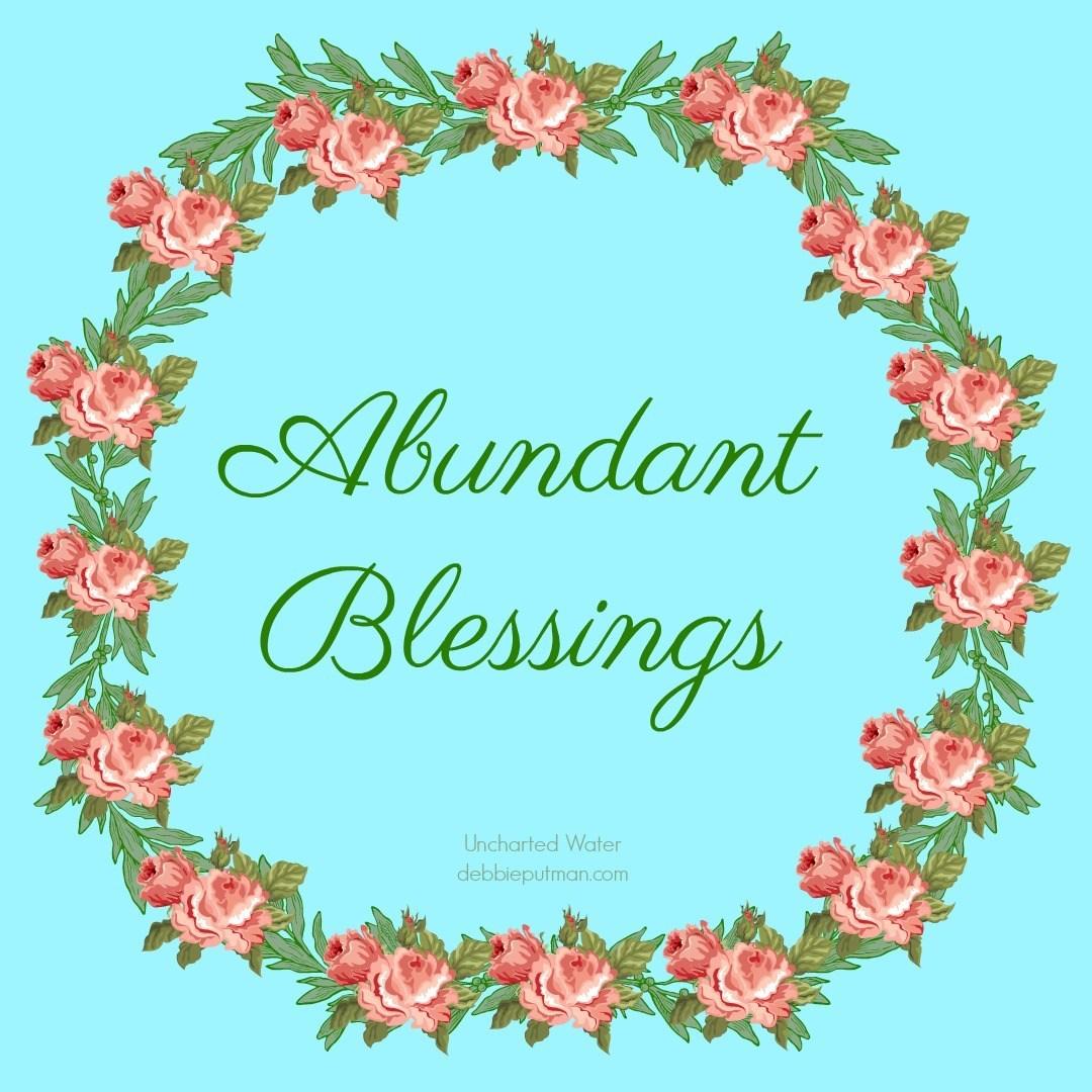 God Gives Abundant Blessing Minute.