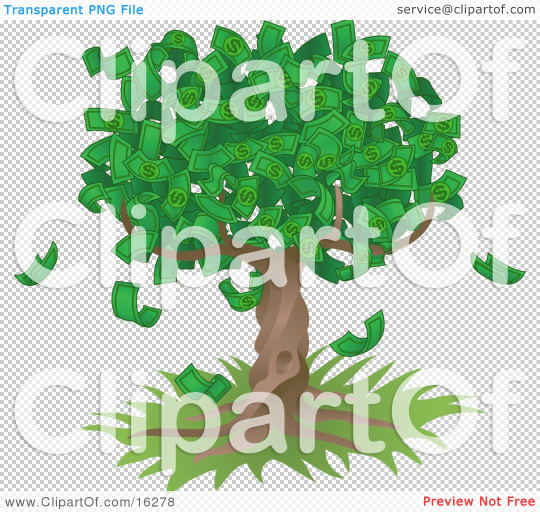 Tree of abundance clipart.