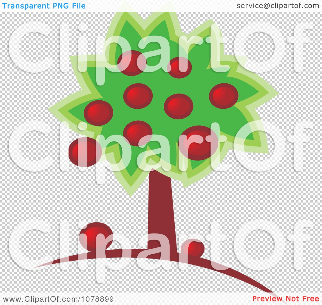 Clipart Abundant Apple Tree.