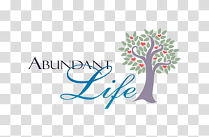 Abundant Life transparent background PNG cliparts free.