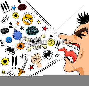 Verbal Abuse Clipart.