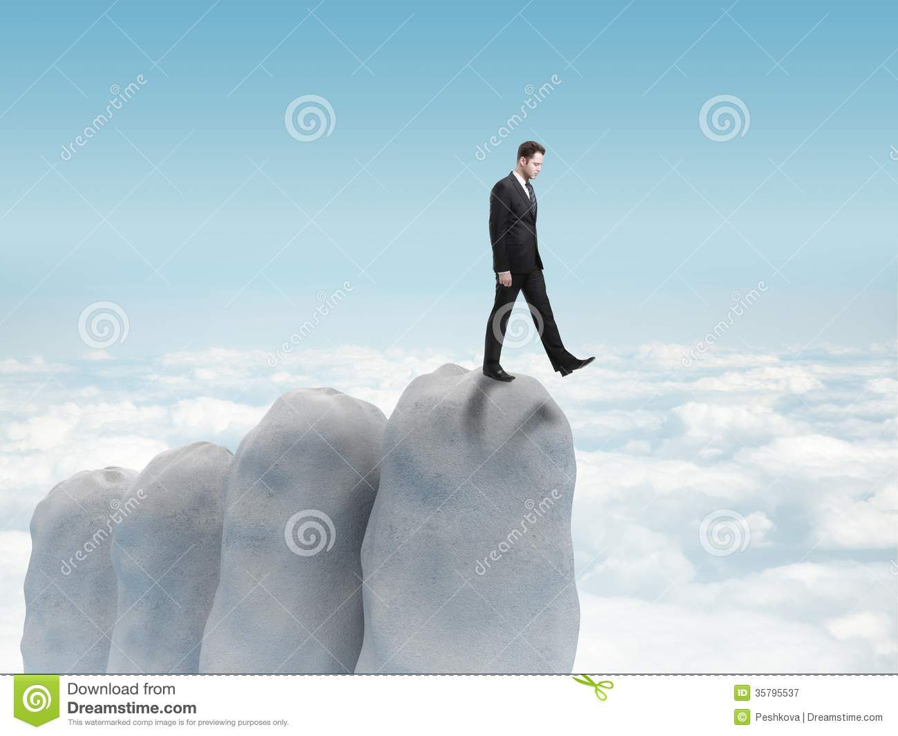 Businessman Falls Royalty Free Stock Photography.