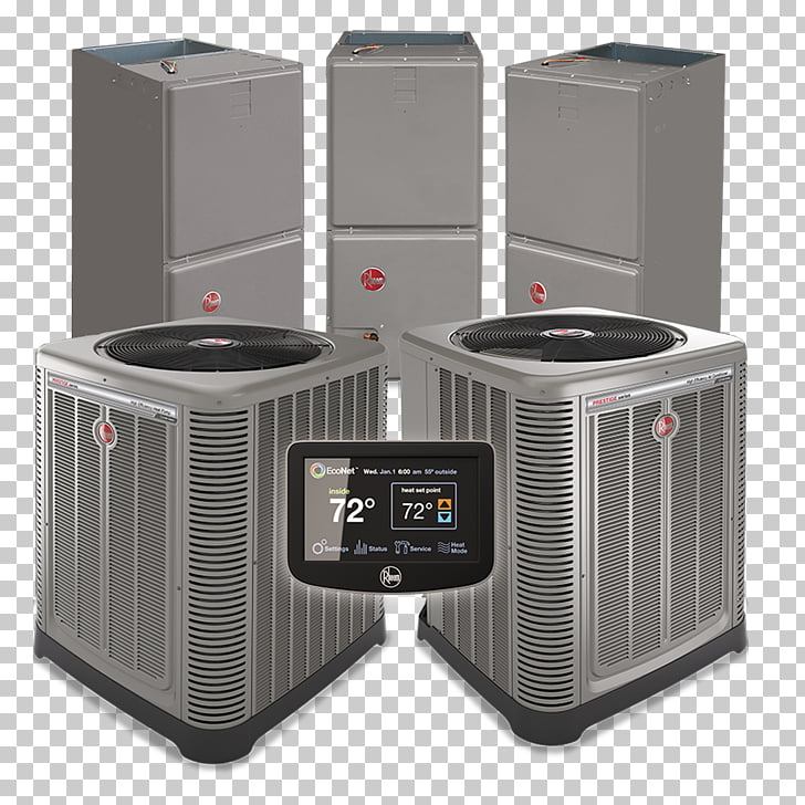Furnace Air conditioning Rheem HVAC Heat pump, shampoo PNG.