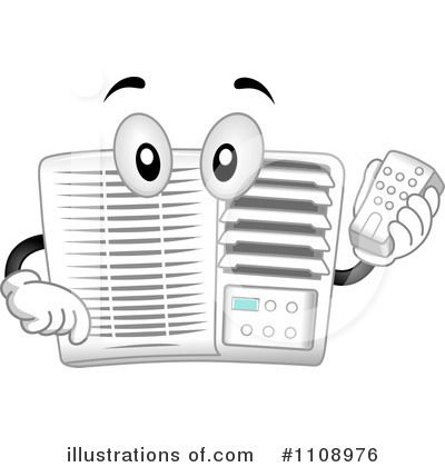Cartoon Air Conditioner Clip Art Before you call a AC repair man.