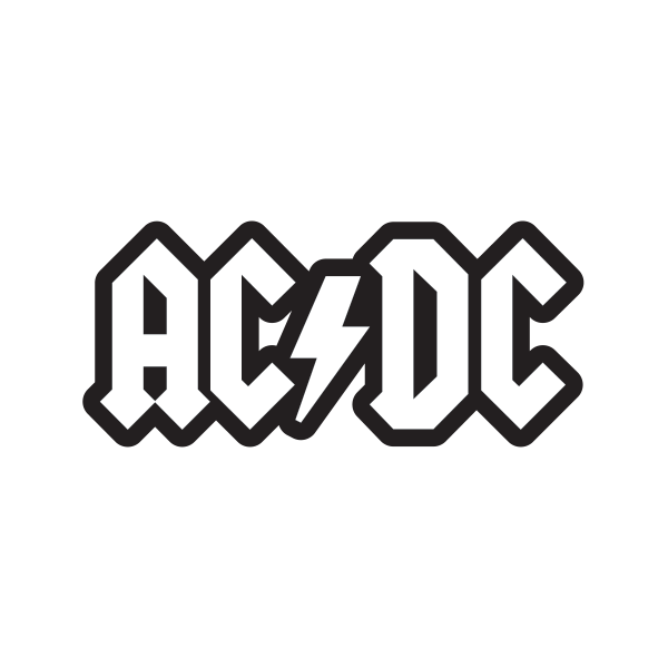 AC/DC Sticker Logo Decal For Those About to Rock We Salute.