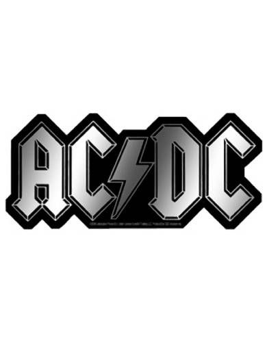 AC/DC Logo Sticker Approximately 3 Inches X 6 Inches.