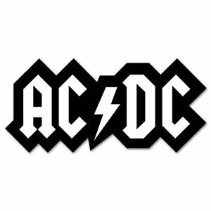 Details about ACDC AC DC logo Classic Rock Band Vinyl Car Sticker Decal 3\