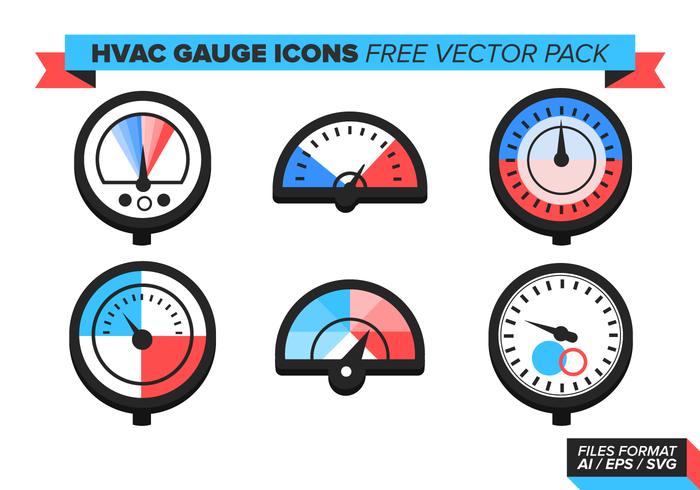 HVAC Gauge Icons Free Vector Pack.