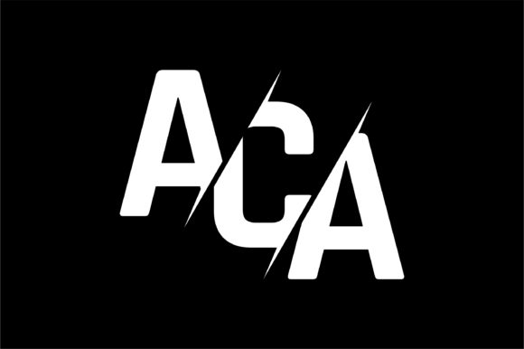 Monogram ACA Logo Design.