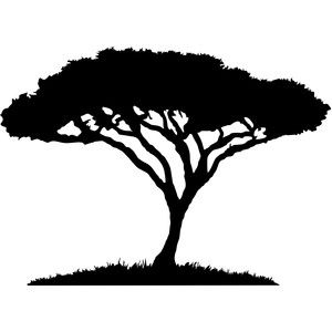 Acacia Tree Silhouette Png.