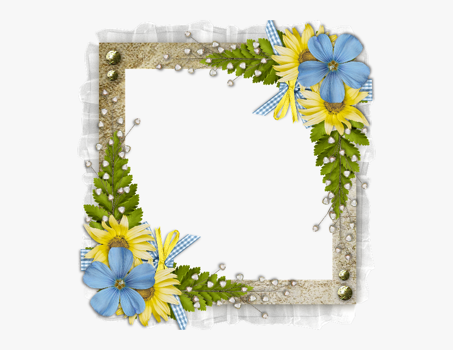 Floral Border Design For Awards , Free Transparent Clipart.