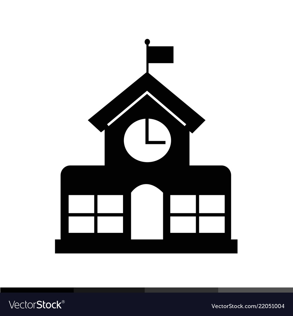 School building icon design.