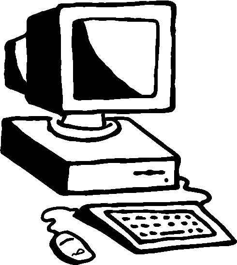 Elementary student with computer clipart free.
