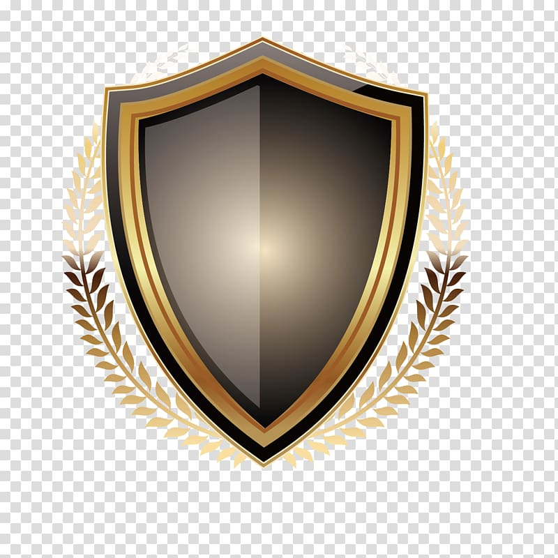 Black and gold shield illustration, Student The Silver.