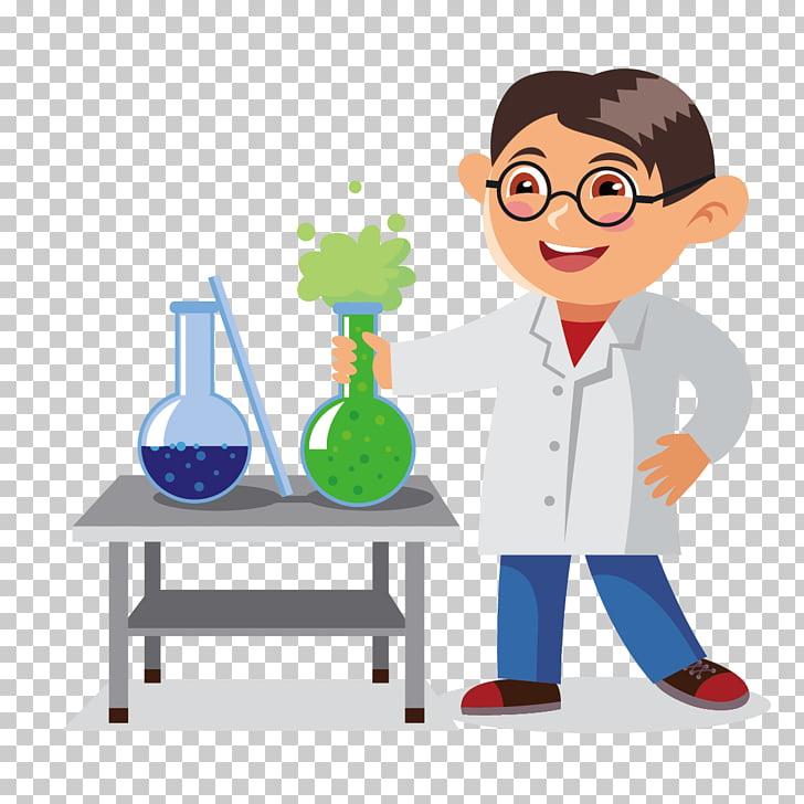 Cartoon Chemistry Classroom Illustration, chemistry teacher.