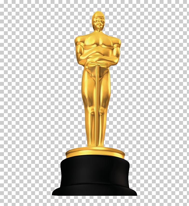 Academy Awards Trophy, Oscars, golden trophy PNG clipart.