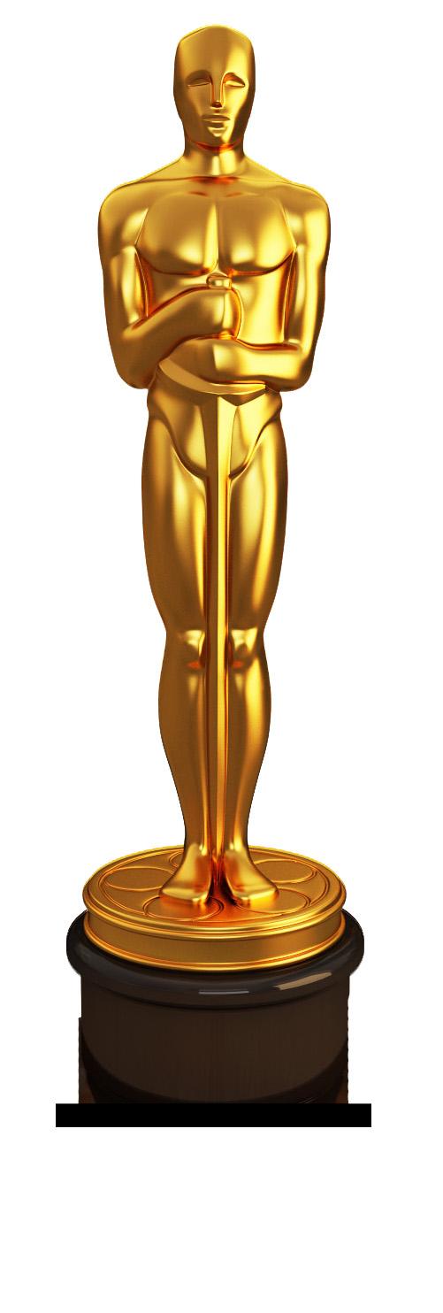 Oscar Award Trophy Clipart.