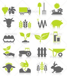Farming and Agriculture Icons.