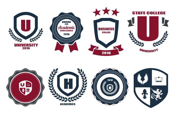 Free School Crests And Logo Vector.
