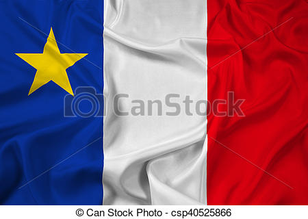 Stock Illustration of Waving Flag of Acadia, Canada csp40525866.