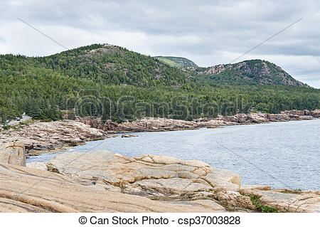 Stock Photo of Three mountains in Acadia National Park.