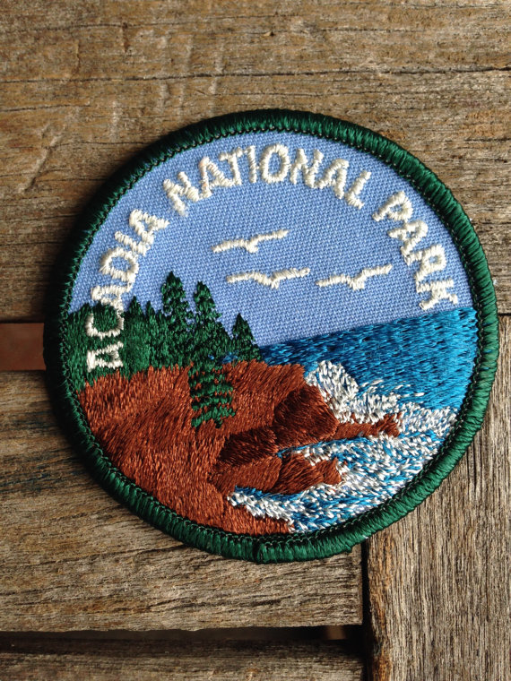 Acadia National Park Maine Vintage Travel Patch by HeydayRetroMart.