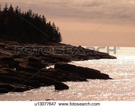 Picture of Acadia National Park, ME, Maine, Mount Desert Island.