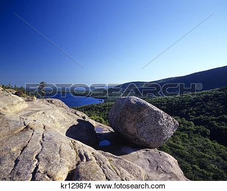Stock Photo of Acadia National Park Me Mount Desert Island Bubble.