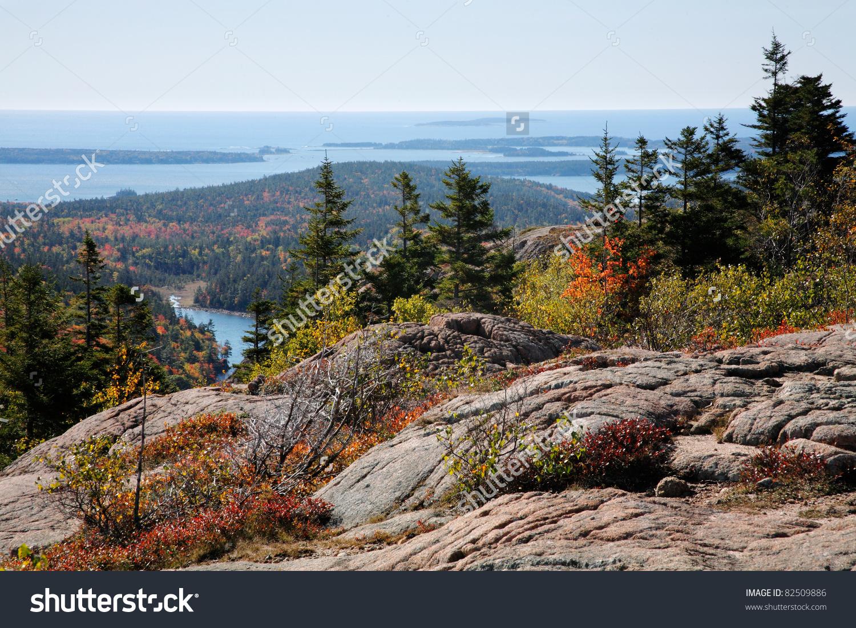 Atlantic Ocean Seen Cadillac Mountain Acadia Stock Photo 82509886.