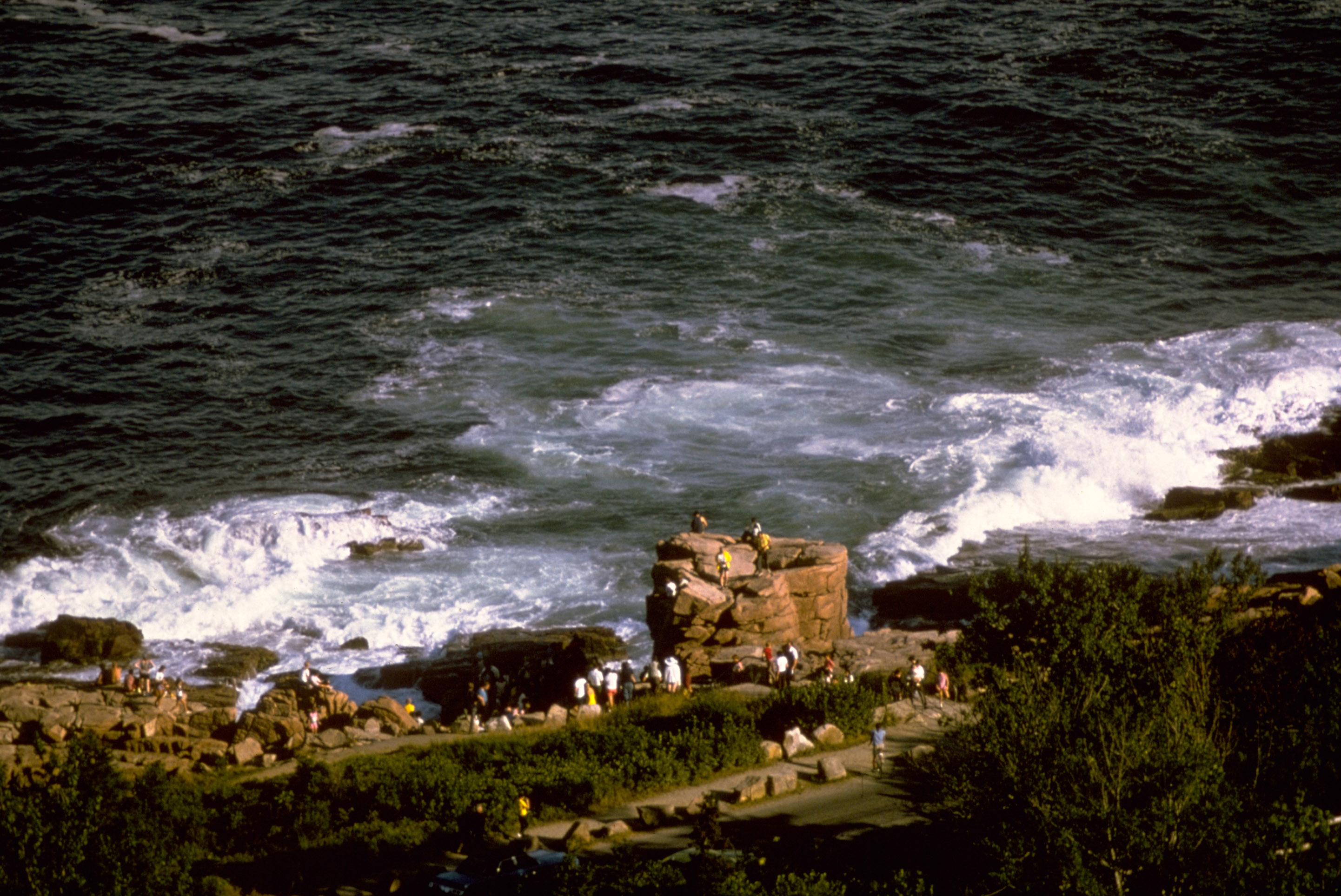 Rugged Coastline at Acadia National Park, Maine.