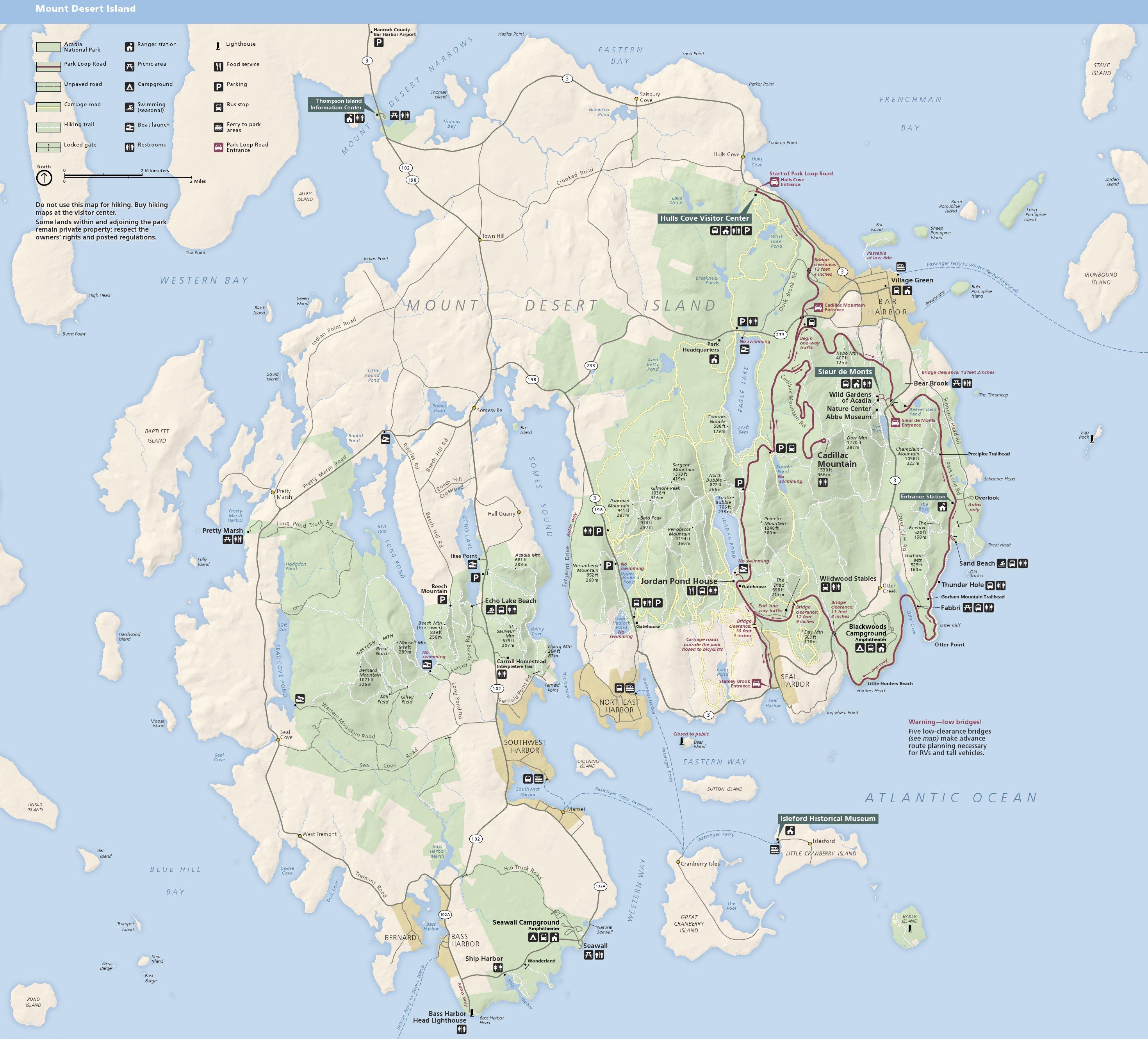 Acadia Maps.