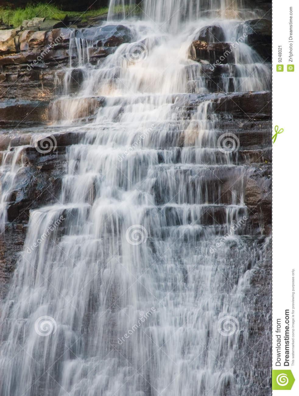 Acadia National Park Waterfall Stock Image.