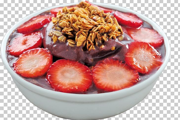 Açaí Na Tigela Strawberry Ice Cream Pizza Breakfast Cereal PNG.