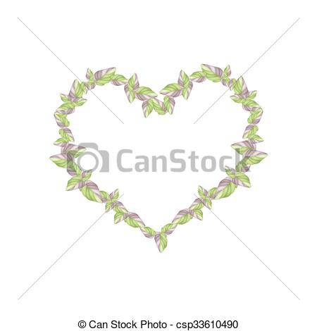 EPS Vectors of Fresh Acanthaceae Plants in A Heart Shape.