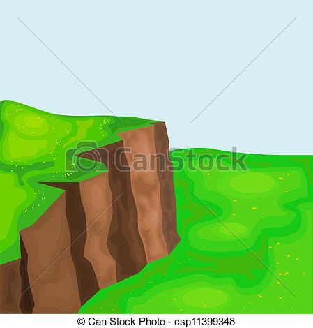 EPS vector de Praderas, acantilados, eps10, paisaje.
