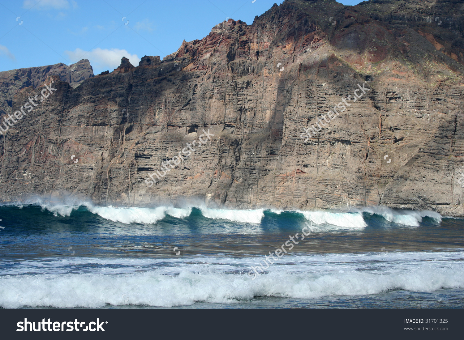 Cliffs Of The Los Gigantes (Acantilados De Los Gigantes) Tenerife.