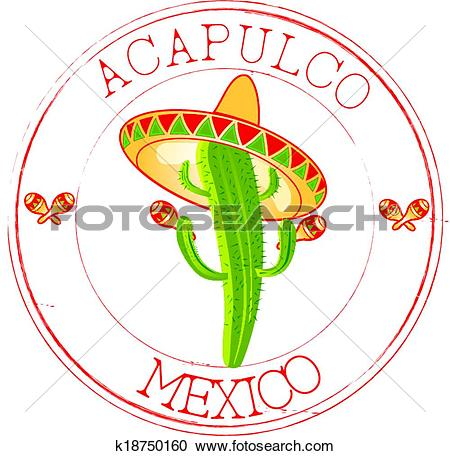 Clipart of Stamp Acapulco k18750160.